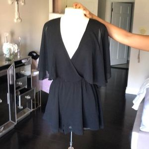 Black chiffon flowing jumper